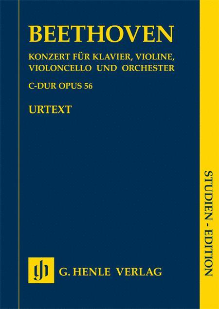 Concerto C major for Piano, Violin, Violoncello and Orchestra [Triple Concerto] Op. 56