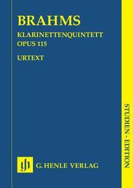 Clarinet Quintet in B minor Op. 115 for Clarinet, 2 Violins, Viola and Violoncello