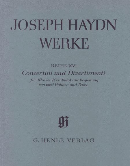 Concertini and Divertimenti for Piano (Harpsichord) with Accompaniment of Two Violins and Bass