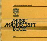 6 Stave Music Manuscript Book