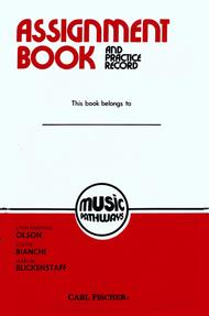 Music Pathways - Assignment Book and Practice Record