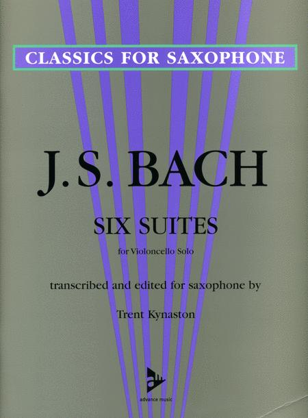Six Suites for Violoncello Solo (transcribed for saxophone solo)