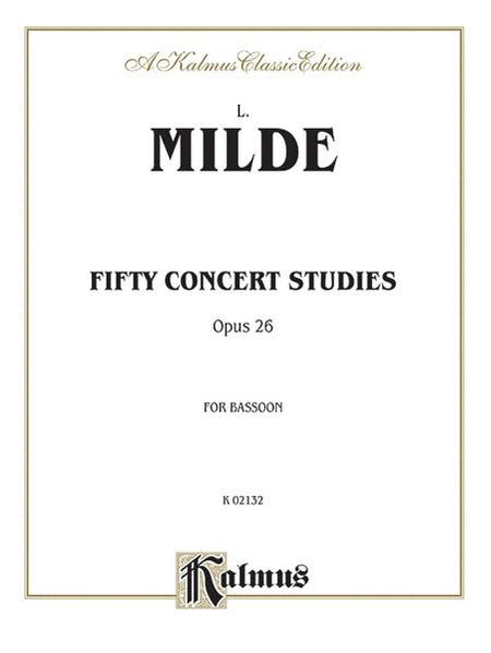 Fifty Concert Studies, Opus 26, for Bassoon