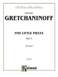 Five Little Pieces, Op. 3