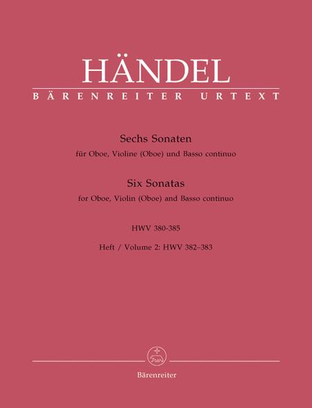 Sechs Sonaten for Oboe, Violine (Oboe) and Basso continuo