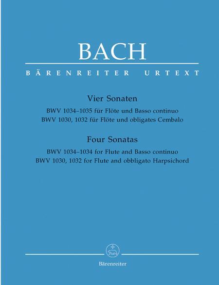 Four Flute Sonatas - BWV 1030, 1032, 1034, 1035