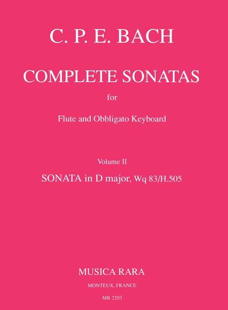 Sonate in D Wq 83