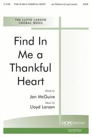 Find In Me A Thankful Heart