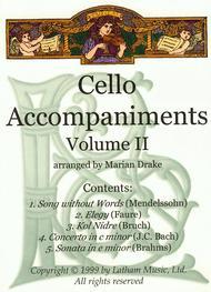 Cello Accompaniments: Volume 2