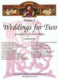 Weddings for Two - Violin II part