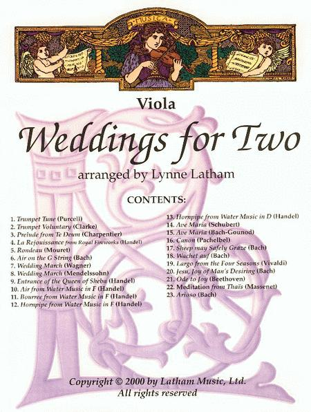Weddings for Two - Viola