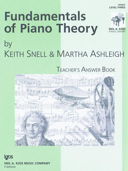 Fundamentals Of Piano Theory, Level 3 - Answer Book