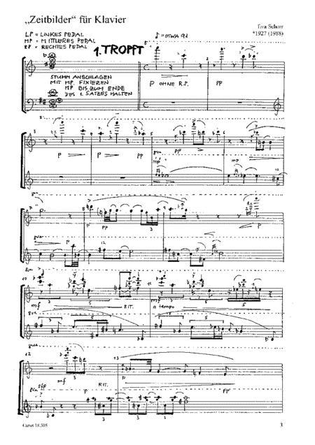 Zeitbilder fur Klavier