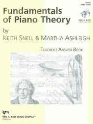 Fundamentals Of Piano Theory, Level 4 - Answer Book