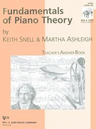 Fundamentals Of Piano Theory, Level 6 - Answer Book