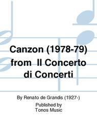 Canzon (1978-79) from  Il Concerto di Concerti