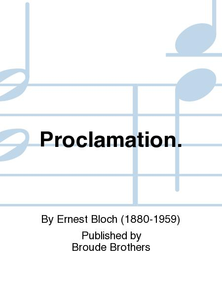 Proclamation.