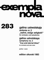 Symphony No. 2 for Orchestra and Solo Voice