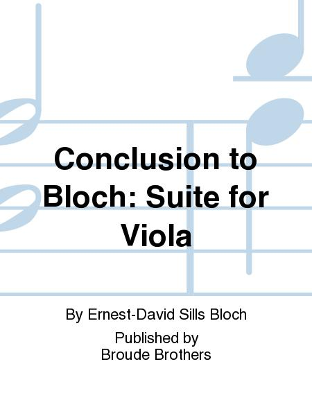 Suite for Viola Solo, Conclusion by David L. Sills