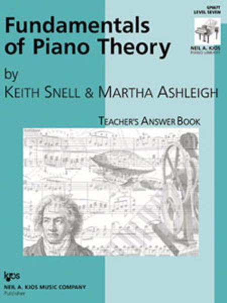 Fundamentals Of Piano Theory, Level 7 - Answer Book