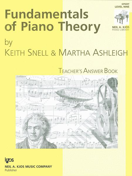 Fundamentals Of Piano Theory, Level 9 - Answer Book