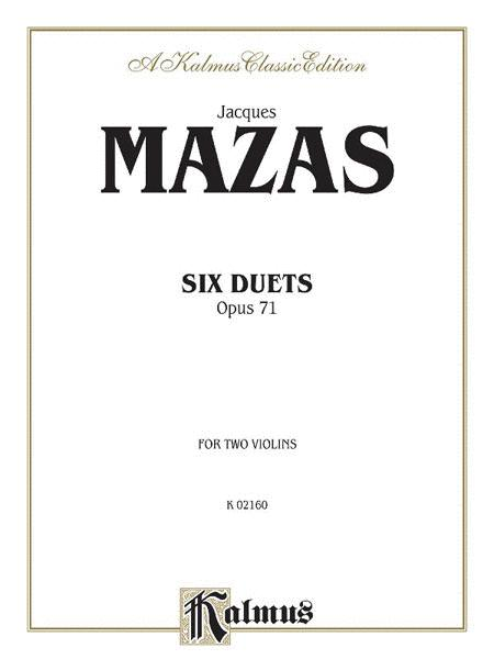 SIX DUETS for Two Violins Opus 71