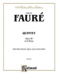 Quintet In D Minor, Opus 89 For 2 Violins, Viola, Cello and Piano