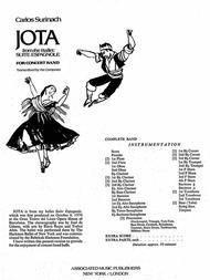 Jota - Full Score