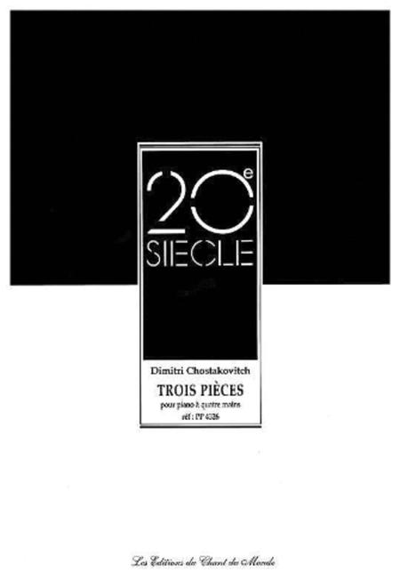3 Pieces for One Piano/Four Hands