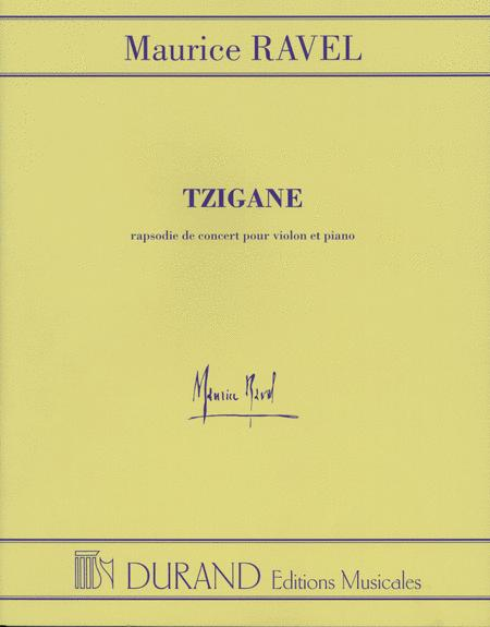 Tzigane Concerto For Violin And Orchestra - Piano Reduction