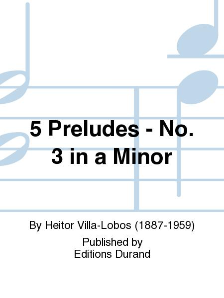 Prelude No 3 en la mineur