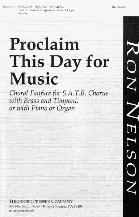 Proclaim This Day For Music