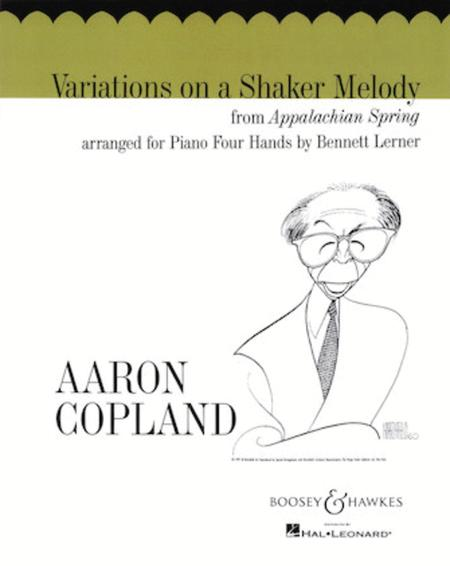 Variations On A Shaker Melody - One Piano/Four Hands