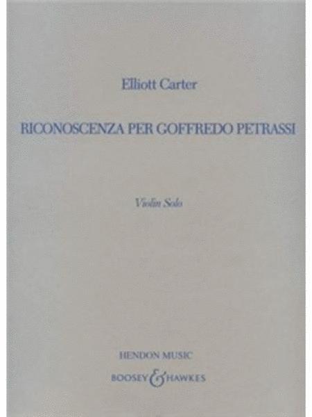 Riconoscenza per Goffredo Petrassi