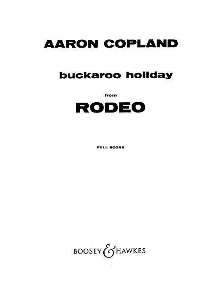 Buckaroo Holiday (from Rodeo)