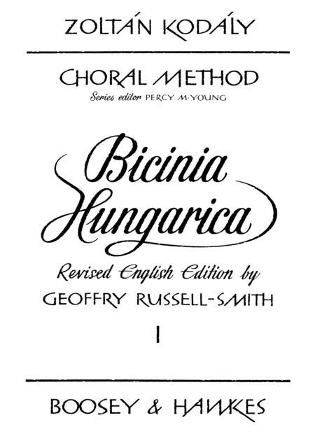 Bicinia Hungarica I