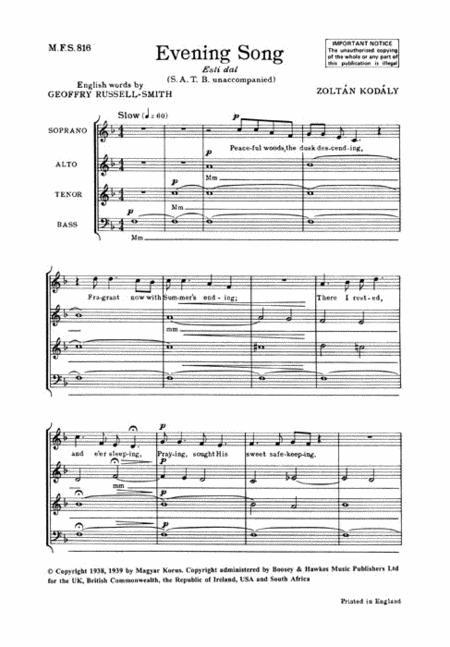 Evening Song (Esti dal)