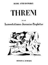 Threni id est Lamentationes Jeremiae Prophetae