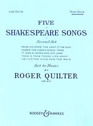Five Shakespeare Songs, Op. 23