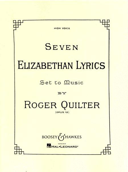 Seven Elizabethan Lyrics, Op. 12