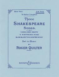Three Shakespeare Songs, Op. 6
