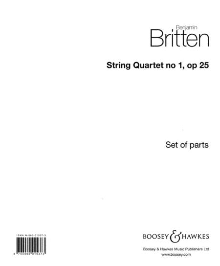 String Quartet No. 1, Op. 25