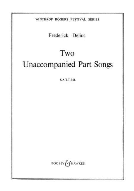 Two Unaccompanied Part Songs
