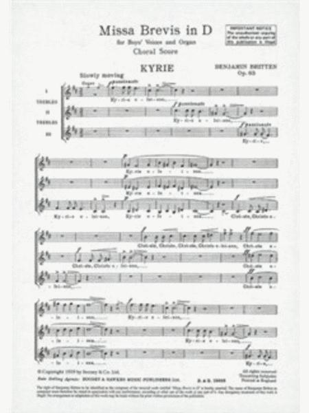 Missa Brevis in D, Op. 63