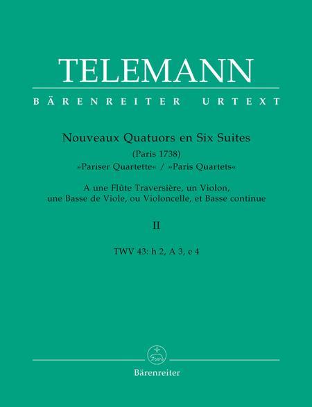 Nouveaux Quatuors en Six Suites II for Flute, Violine, Viola da gamba oder Violoncello und Basso continuo 'Pariser Quartette'