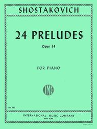 24 Preludes, Op  34 Sheet Music By Dmitri Shostakovich