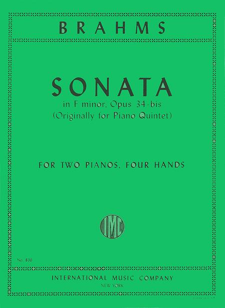 Sonata in F minor (after Quintet), Opus 34b