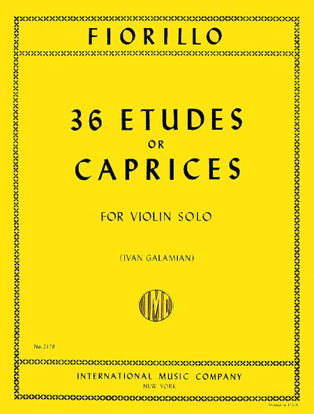 36 Etudes or Caprices