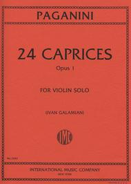 24 caprices opus 1 sheet music by nicolo paganini sheet music plus. Black Bedroom Furniture Sets. Home Design Ideas