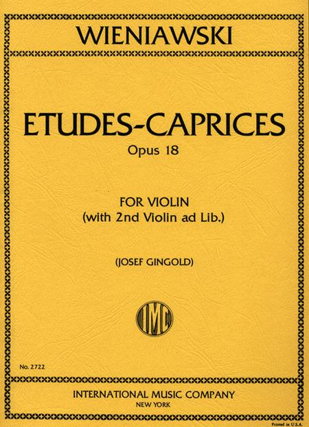 Six Etudes-Caprices, Op. 18 (with 2nd violin)